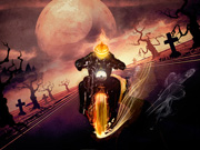 Halloween Ghost Rider Motorcycle
