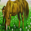 Grassland and hungry horses puzzle